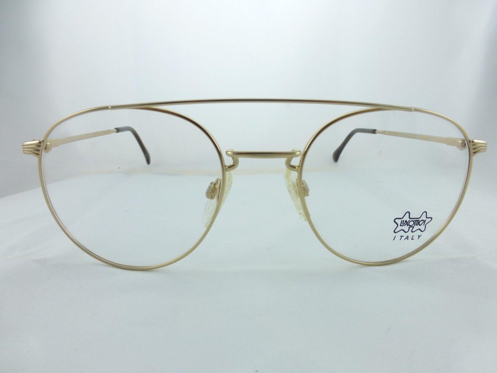luxottica eyeglasses frame special shape gold