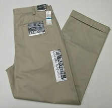 Izod (NWT) Mens Cotton Pleated Pants Size 36 x 32 - $24.99
