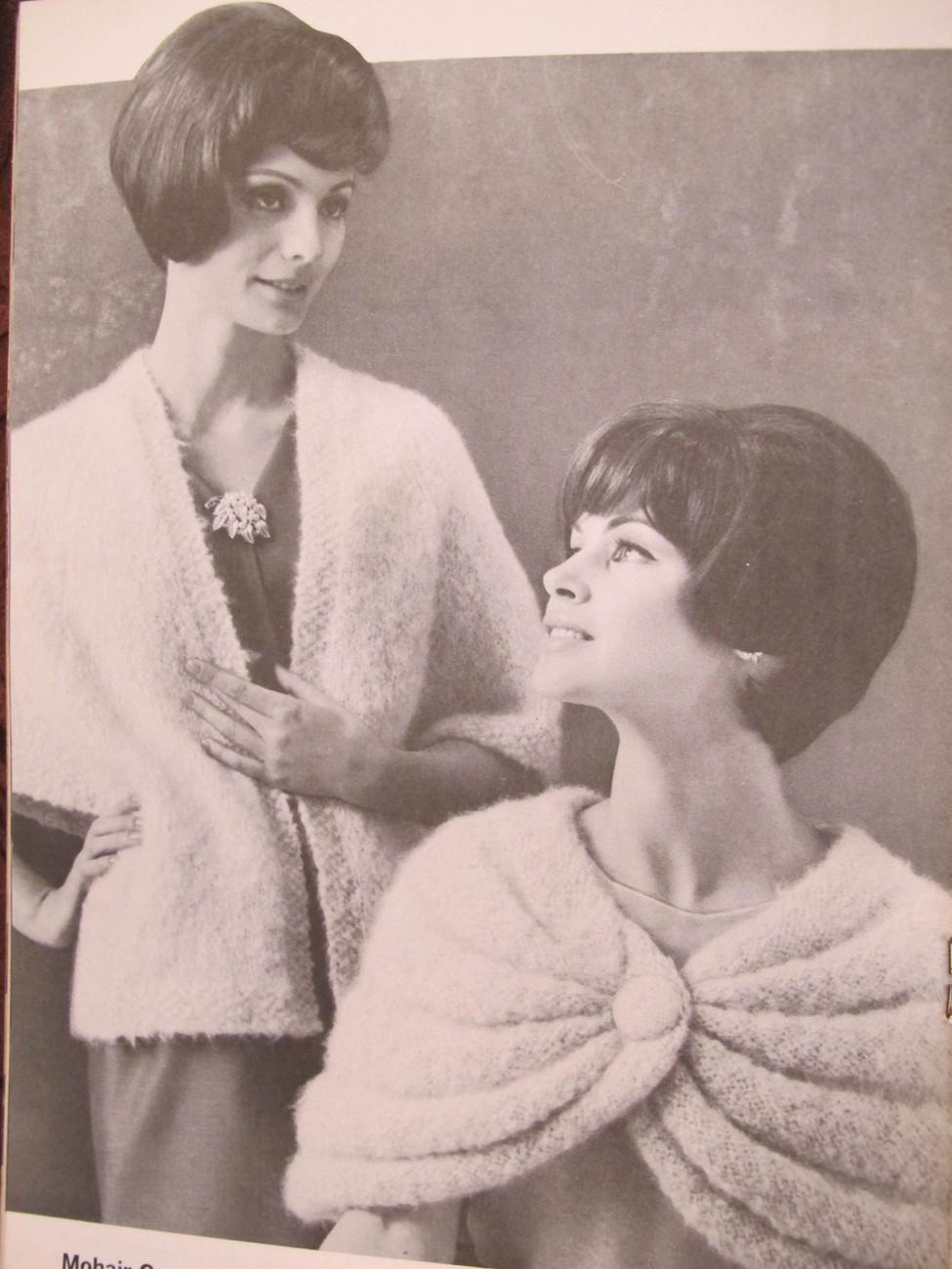 Vintage Patons Knitting Crochet Crocheting Patterns Hats Scarves Poncho FAMILY