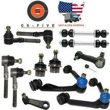 Fit Expedition 2WD 97 - 02 Ball Joints Tie Rods Sleeves Control Arm Pitm... - $152.11