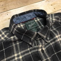 Woolrich Gray Windowpane Checker Men's XL Casual Cotton Flannel Outdoor ... - $16.66