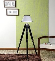 Nauticalmart Authentic Designer Wooden Tripod Floor Lamp - $127.71