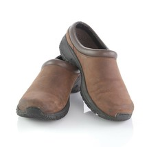 Merrell Encore Groove Brown Nubuck Leather Mules Slip On Comfort Shoes Womens 8 image 2