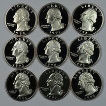 1990 - 1998 S Washington proof quarter set - $22.00