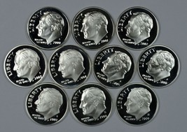 2000 - 2009 S Roosevelt silver proof dime set - $53.00