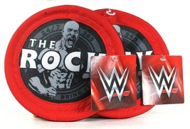 2 Count Petmate WWE The Rock Small Flies & Floats Red Gray & White Small... - £13.57 GBP
