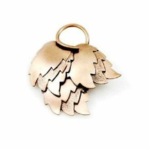 Vintage Womens Pin Brooch Stylized  Copper Leaves Mid Century 1950S 2 x 2 - $13.20