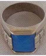 A light blue man ring - $28.00