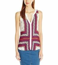 Sanctuary Womens Sleeveless Printed Button Down Shirt X-Small XS Beige $79 - €15,29 EUR