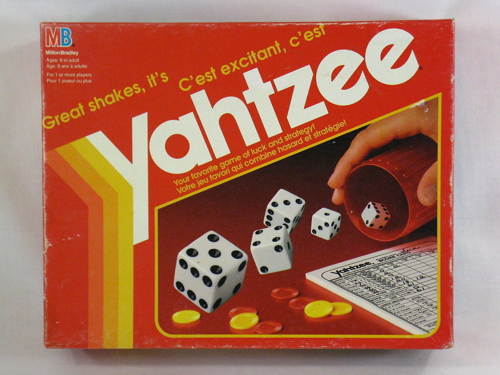 Yahtzee 1993 Dice Family Board Game Milton Bradley 100% ...