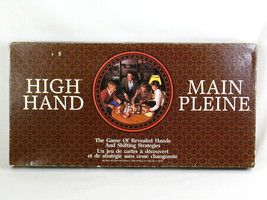 High Hand 1984 Board Game Milton Bradley 100% Complete Excellent Bilingual - $12.82