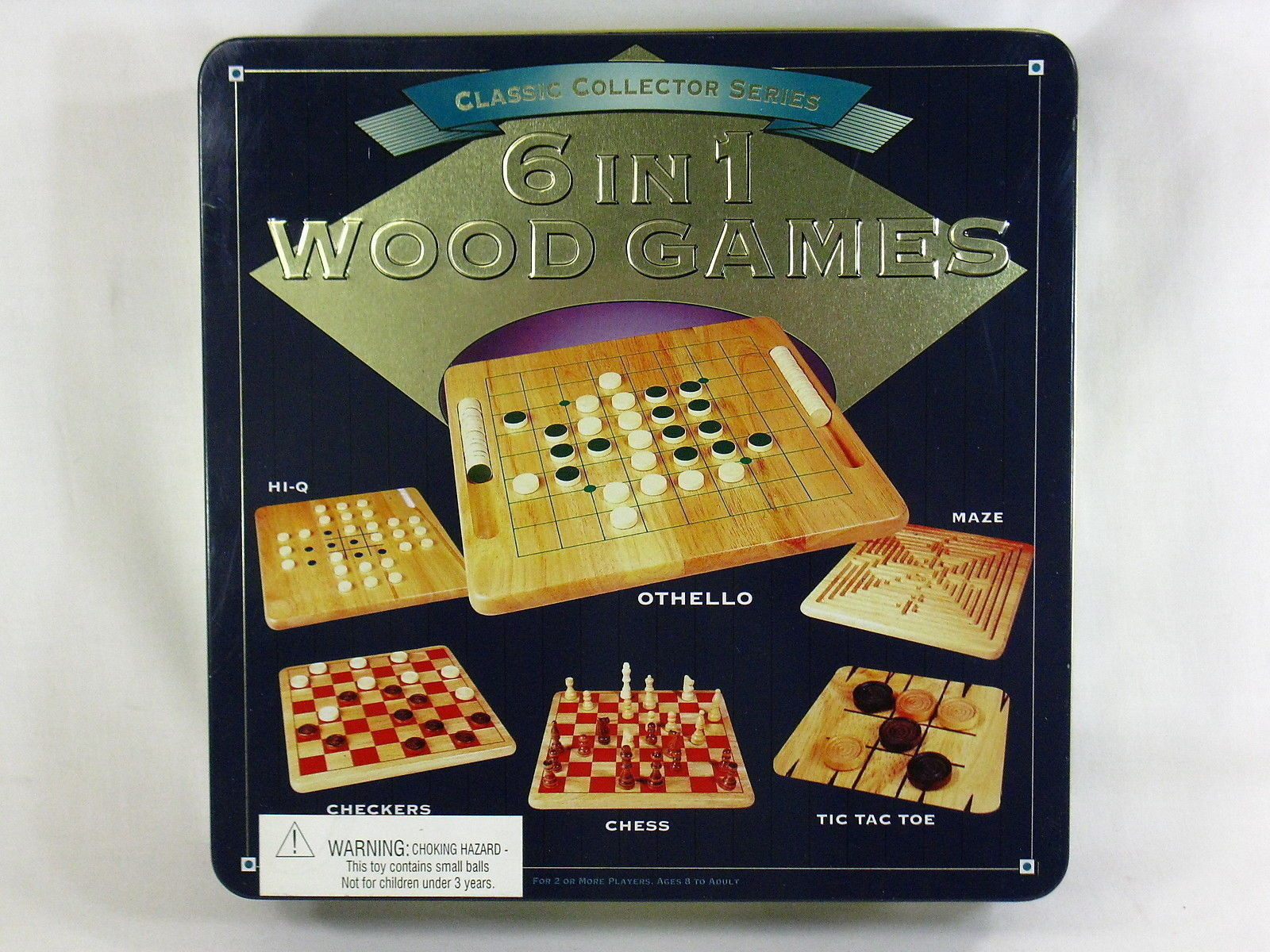 6 IN 1 WOOD GAMES CLASSIC COLLECTOR SERIES 1999 PRESSMAN 99% COMPLETE - $9.90