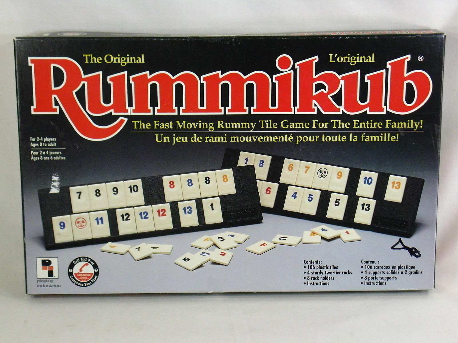 Rummikub Board Game 1992 Playtoy Industries 100% Complete Excellent #2 - $14.85