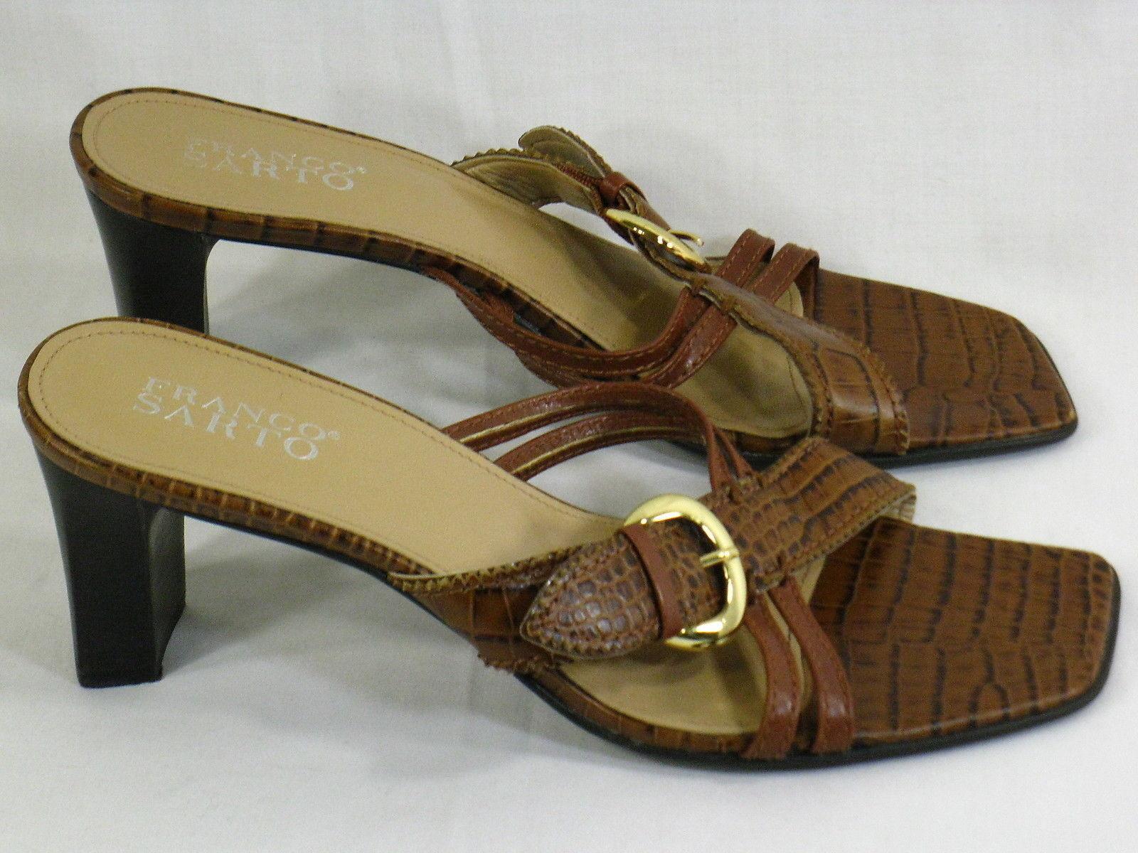 75306670ac7b Franco Sarto Brown Leather Reptile Print and 29 similar items