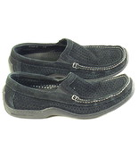 Donald J Pilner Black Leather Mesh Loafers Mens Size 8 M US Excellent - $21.66