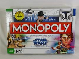Monopoly STAR WARS Clone Wars Game 2008 Hasbro Complete Bilingual - $16.83