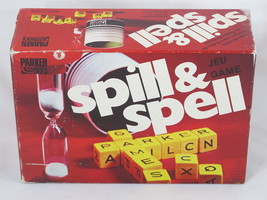 Spill And Spell 1975 Cube Crossword Dice Game Parker Brothers Complete Excellent - $15.30
