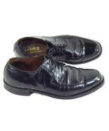 Dack's Black Leather Oxford Mens Shoes Size 10 D US Excellent Canada Vin... - $37.50