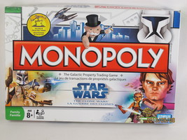 Monopoly STAR WARS Clone Wars Game 2008 Hasbro 98% Complete Bilingual - $13.86