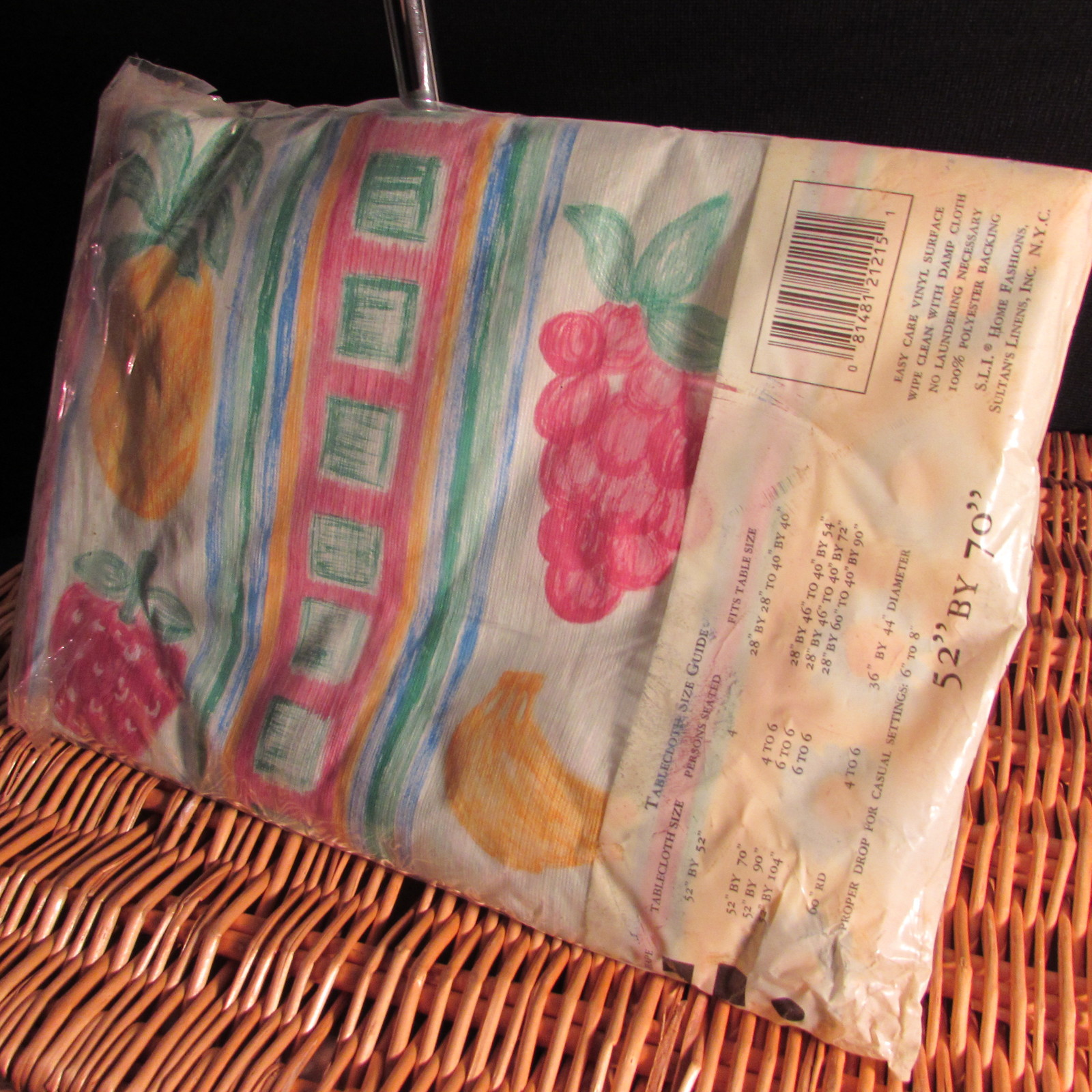 Vinyl Table Cloth Fruit Design 52 X70 Oblong By Sultan