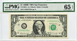 FR. 1905L 1969B $1 FRN San Francisco PMG Gem Unc 65 EPQ [L47055725A] - - $33.95