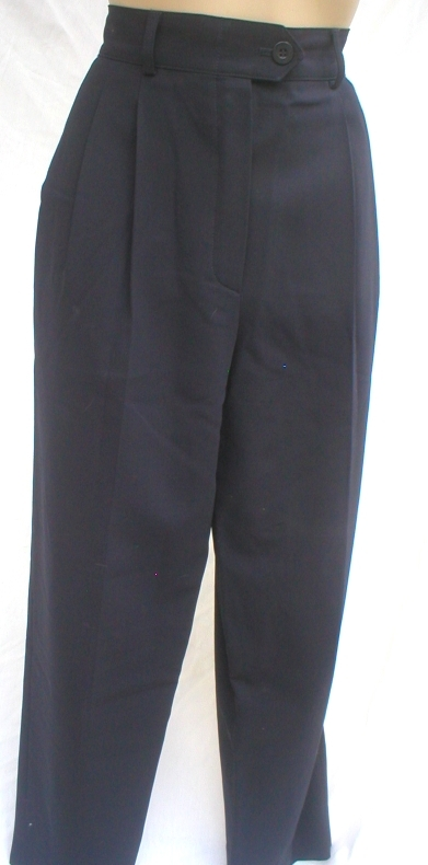 Escada Black wool dress career pants 36 4