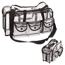 Casemetic Large Carry Clear Set Portable Makeup Bag With Accessories 986... - $40.12
