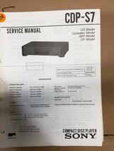 Sony CDP-S7 Service Manual *Original* - $8.60