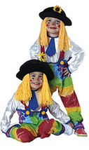 Toddlers Unisex Colorful Clown Halloween Costume 2-4 Years - $23.00