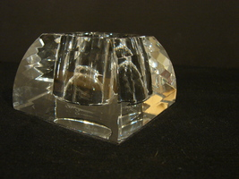 Clear Faceted Oleg Cassini Crystal Votive Candle  Holder - $19.90