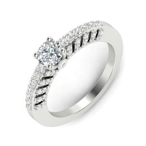 1 ct Round Solitaire Diamond Engagement Ring 14Carat Solid White Gold We... - $319.90