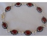 Red agate silver bracelet thumb155 crop