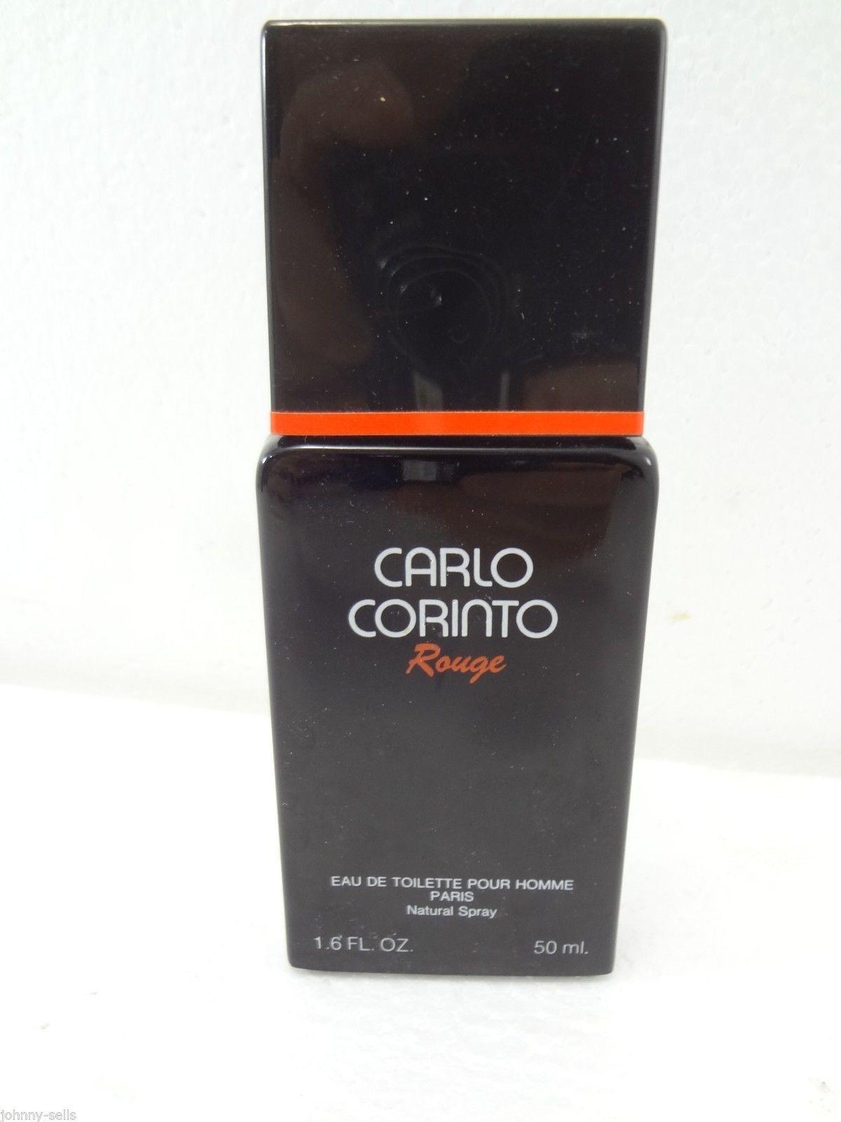 Carlo Corinto Rouge Mens Eau de Toilette Natural Spray Pour Homme Paris 1.6 oz