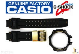 Casio G-Shock GW-A1030A-1A Black Rubber Watch Band & Bezel (Top & Bottom) Combo - $169.95