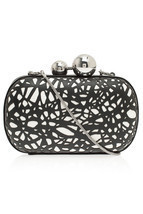 DIANE von FURSTENBERG SPHERE LASER CUT LEATHER ... - $217.52