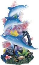 "9.5"" Marine Life Dolphins Statue Figurine Figure Sea Ocean Nautical Decor - $32.00"