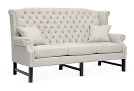 Fabulous Chic French Provence Style Linen Beige Sofa,73'' x 31'' x 42.5''h - $2,519.55