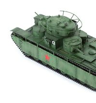 Academy 13517 1:35 Soviet Union T-35 Soviet Heavy Tank Plastic Hobby Model image 5