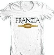 Franzia Wine T-shirt retro 100% cotton graphic printed white tee shirt beer image 2