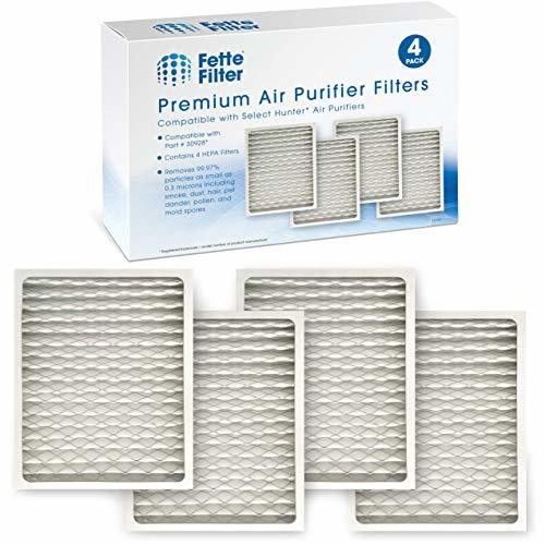 Fette Filter - Pack of 4 HEPAtech Replacement Filters Compatible with Hunter 309