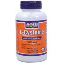 L-Cysteine, 500 mg, 100 Tabs by Now Foods - $9.25