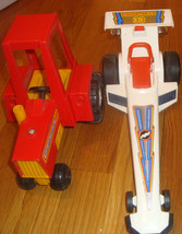 Fisher Price vintage 1980 cars lot of  used - $14.84