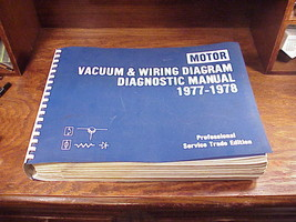 1977 1978 Motor Vacuum and Wiring Diagram Diagnostic Manual, for various... - $18.95