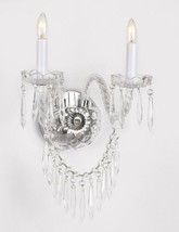 Murano Venetian Style Crystal Wall Sconce Lighting with Crystal Icicles! - $144.79