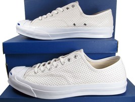 Converse Jack Purcell Signature Perforated Leather WHITE 151476C (11.5 M... - $87.50