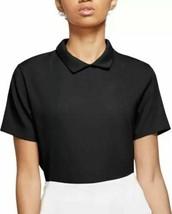 New Nike Womens Dri-Fit Ace Jacquard Golf Polo Size Small CK5846-010 Black Small - $39.99