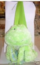 Green frog backpack shoulder bag child tote purse book - $19.35