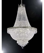 French Empire Crystal Silver Chandelier Lighting - Great for the Dining ... - $268.53