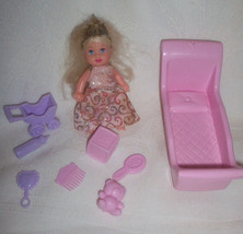 Barbie Baby Krissy Princess Mini Doll Set with her Original Accessories - $18.00