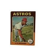 Topps 1975 Houston Astros J.R. Richard Pitcher #73 Baseball Card Very Good - $4.99